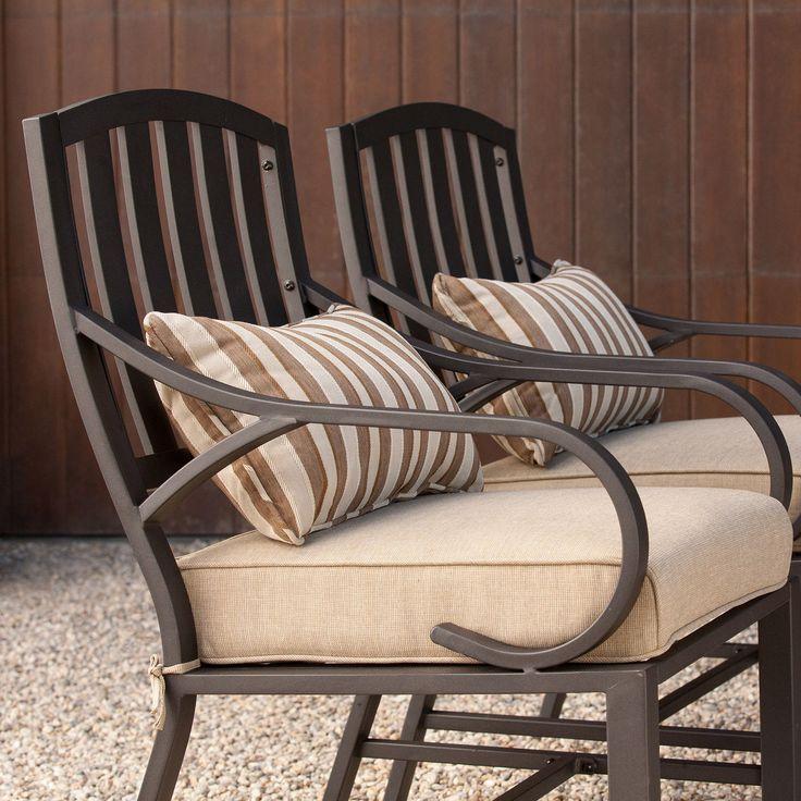 Patio Furniture Sets Clearance 7 piece Cushion Dining Aluminum Swivel Rockers | eBay