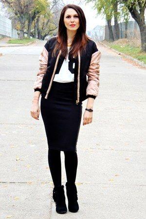 bomber jacket Zara jacket - fringe boots H&M boots