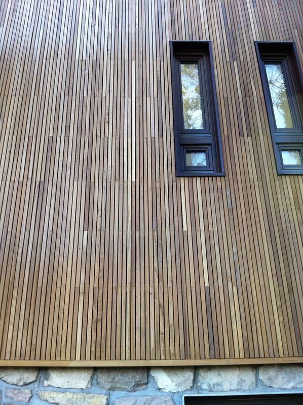 Iroko - Exterior Wall Panelling