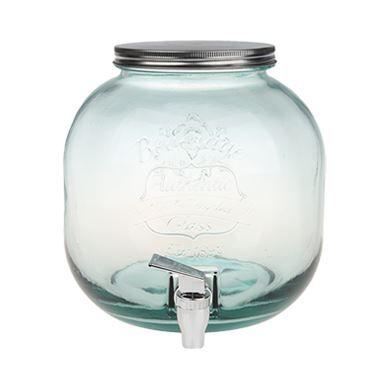 Teljes mértékben újrahasznosított üvegből készült spanyol csapos befőttes üveg.