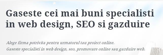 http://www.ulise.ro/promovare-online - Catalog al firmelor si persoanelor fizice autorizate ce ofera si servicii de promovare in mediul online.