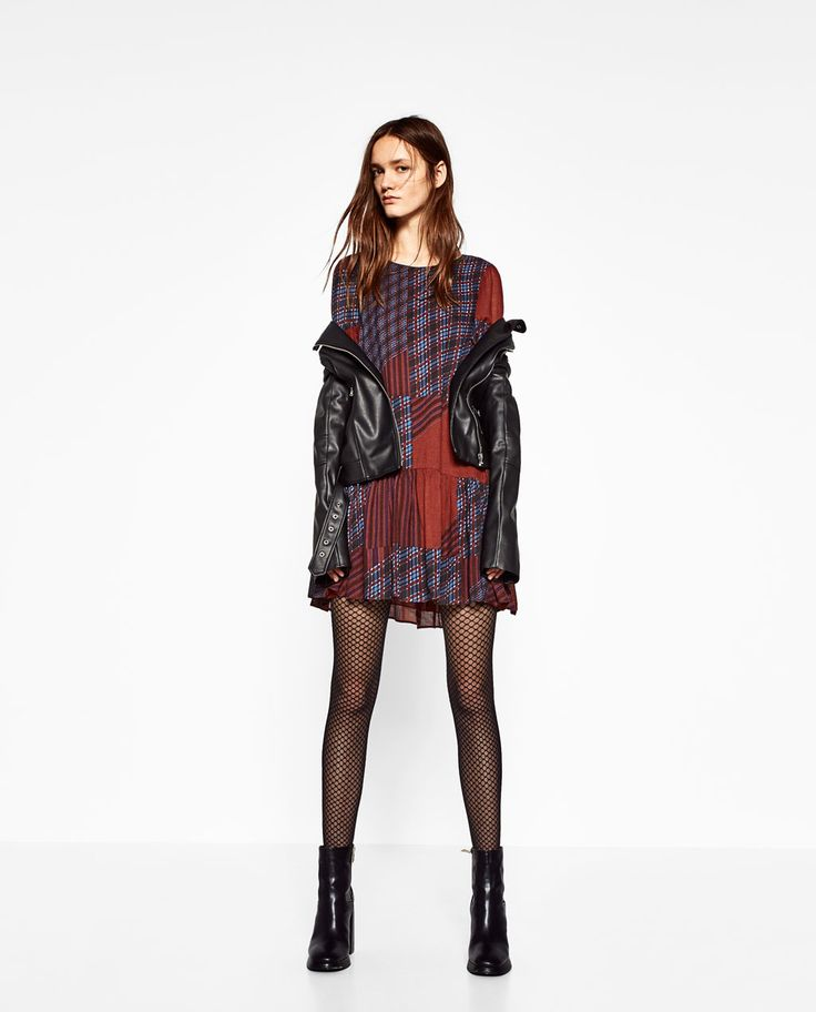 Image 1 of FLOWING PATCHWORK DRESS from Zara