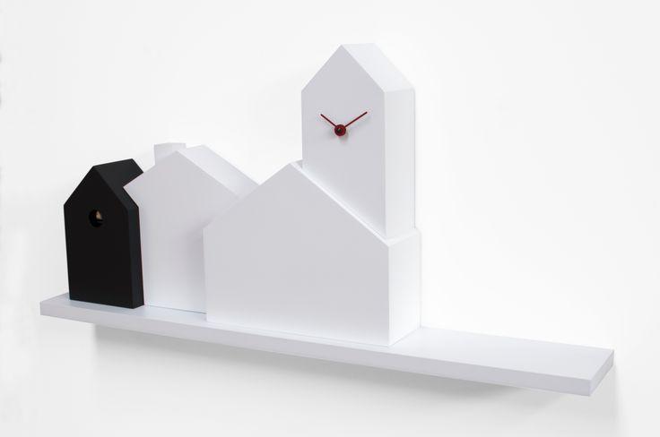 """Here our interpretation of the classic italian """"borgo"""" landscape the Cukoo Clock """"Town"""" for @Progetti Srl"""