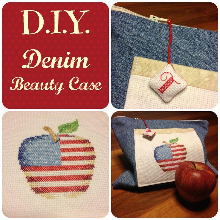 Denim Beauty Case #usa #americanflag #apple