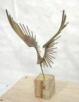 Image result for stone and metal bird sculptures