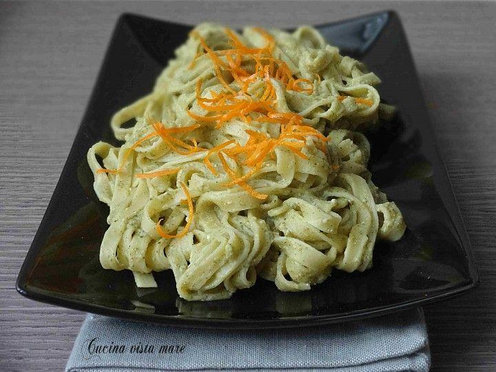 Tagliatelle alla crema di broccoli e arancia Cucina vista mare
