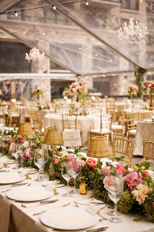 Lush, flower-filled tented wedding reception inspiration (Pepper Nix Photography)