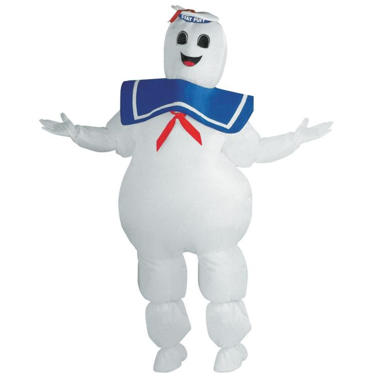 Stay Puft Marshmallow Man Ghostbusters Inflatable Halloween Costume for Adults