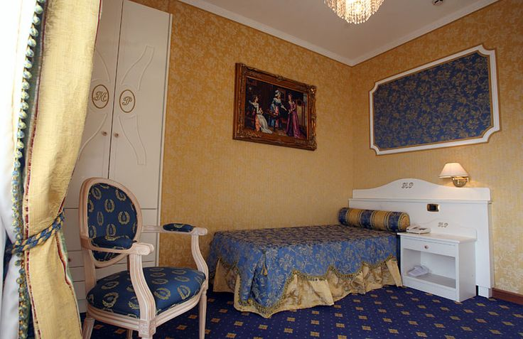 imperia style yellow single bed - room Hotel Palace Catanzaro Lido Calabria