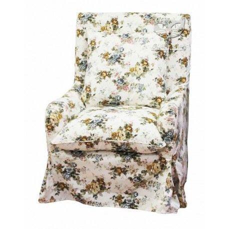 fotel w kwiaty wysokie oparcie - Marie