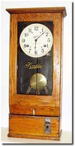 Antique Simplex Time Recorder Punch Clock