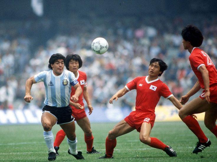 Debut ante Corea, 1986, lo cargaron de patadas....