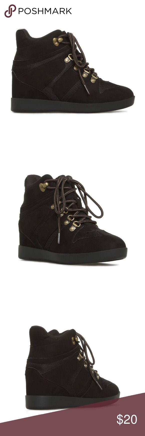 ♥️♥️ʙʀᴀɴᴅ ɴᴇᴡ♥️♥️ Shoe Dazzle Heeled Sneakers 7.5 * BRAND NEW in box * Size 7.5 US * Name: Norma * Shoe Dazzle * Lace Up Sneaker Wedges Shoe Dazzle Shoes Heeled Boots