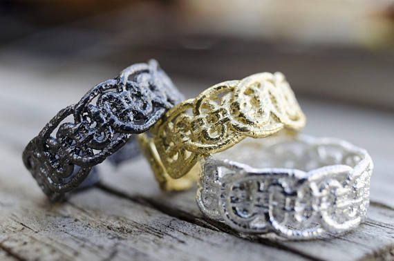 Lace Rings, Romantic Jewelry, Valentine's Gift, Dainty Rings, Statement Rings, Lace Jewelry, Unique Rings, Cast Lace, Ready to Ship