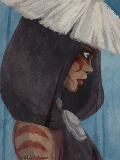 Katara - One of my favorite story lines. She was more herself as the Painted Lady then I think she was given an opportunity to be during the rest of the series. Here she could help. There was no one who could stop her from helping people. No one expected her to be someone she wasn't.