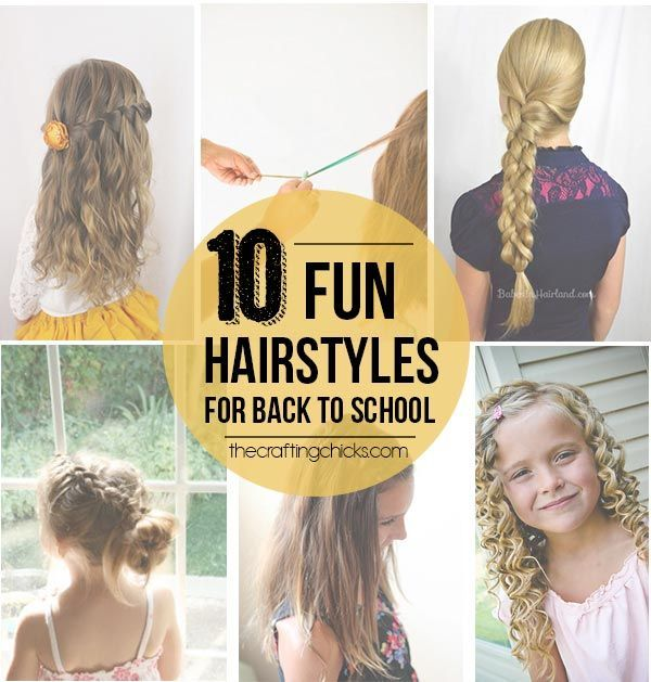 10 Fun Hairstyles for back to school