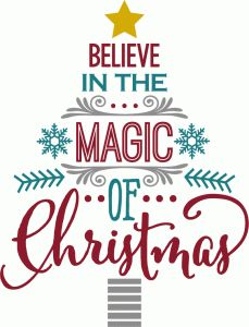 Silhouette Design Store - View Design #70884: believe in magic of christmas - word tree