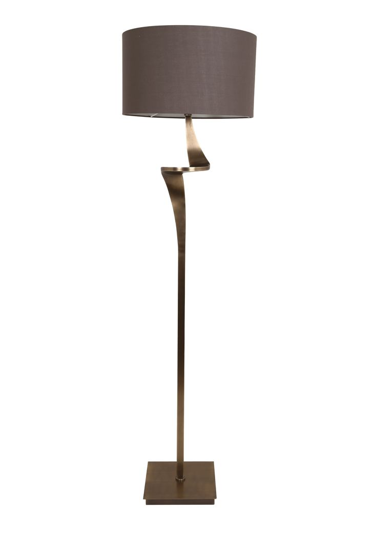 The Enzo Floor Lamp Antique Brass by RV Astley boasts a frame finish in antique brass, with a brown light shade. Part of the Enzo range, this beautiful floor lamp is the perfect compliment to a minimalist living room.