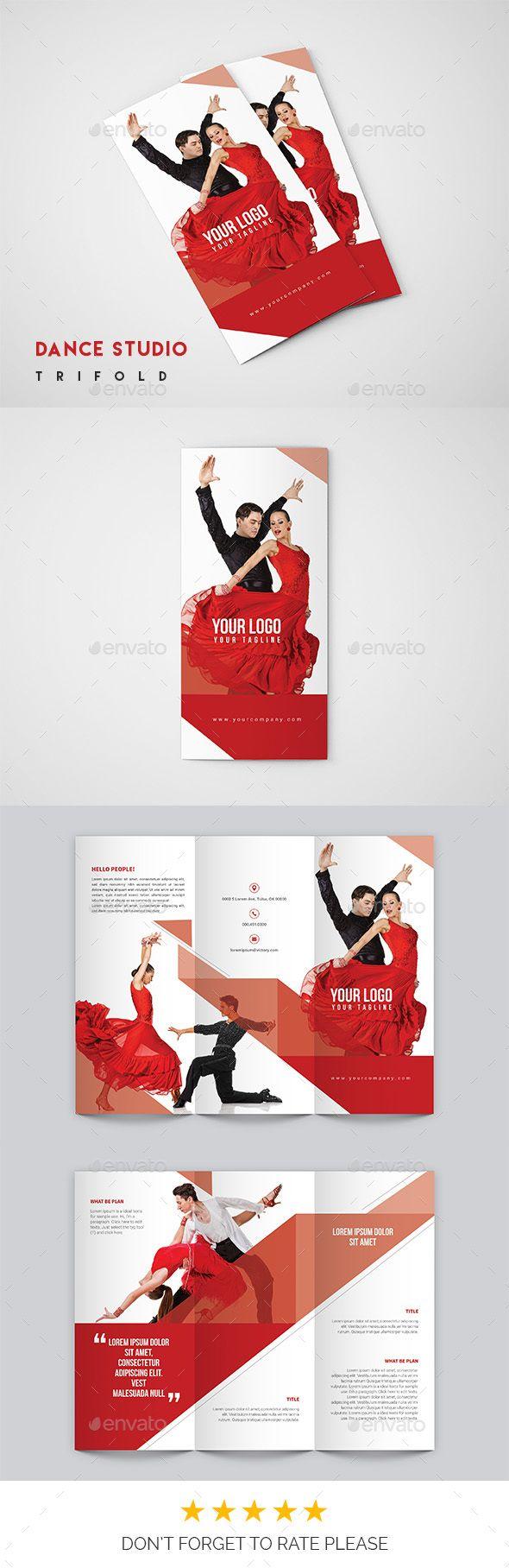 Dance Studio #Brochure - Catalogs Brochures Download here: https://graphicriver.net/item/dance-studio-brochure/19325681?ref=alena994