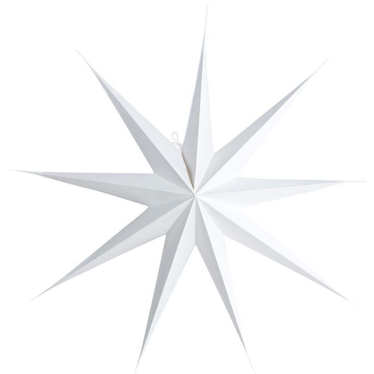 9 Point stjärna 87 cm, vit i gruppen Inredningsdetaljer / Dekoration / Juldekoration hos RUM21.se (116108)