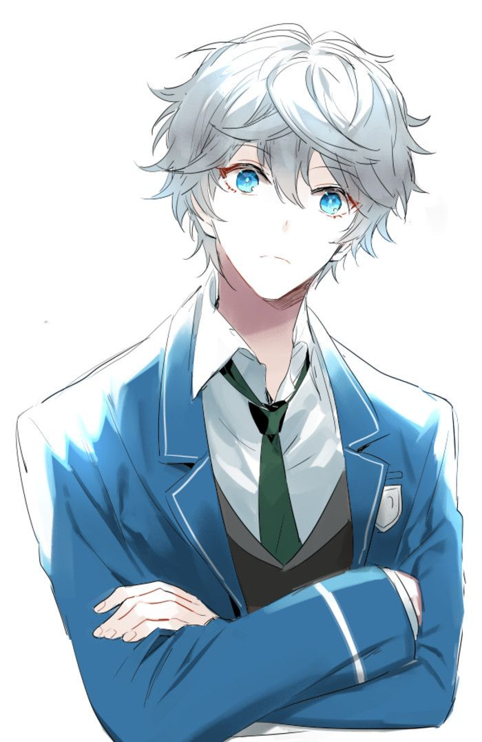 Anime Guy White Hair Blue Eyes Anime Boy Hair White Hair Anime Guy Blue Anime