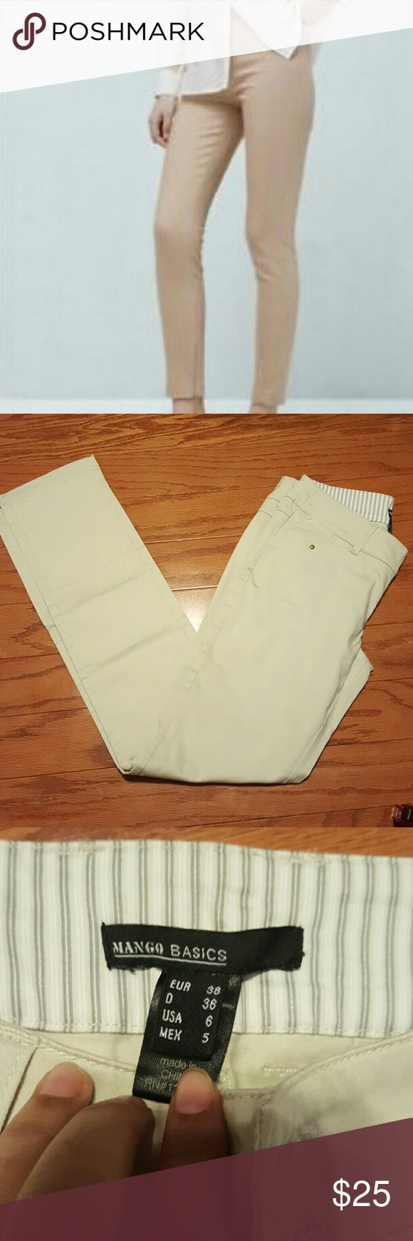 SALE!!🎉 MANGO BASIC CREAM TROUSER ✔Cream Trouser for Women ✔Insem 32 ✔In good condition Mango Pants Trousers