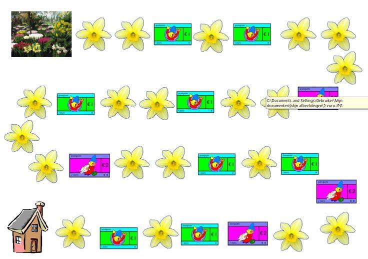 * Dit spel is een coöperatief spel waarbij leerlingen samen proberen zoveel mogelijk geld bij elkaar te spelen zodat er bloemen gekocht kunnen worden