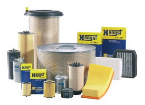 Filters of different kinds from Hengst. One product line in the aftermarket truck parts among others,