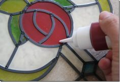 Nice tutorial for creating faux stained glass, and it looks way better than the squeeze-bottle 'leading' I've seen before!