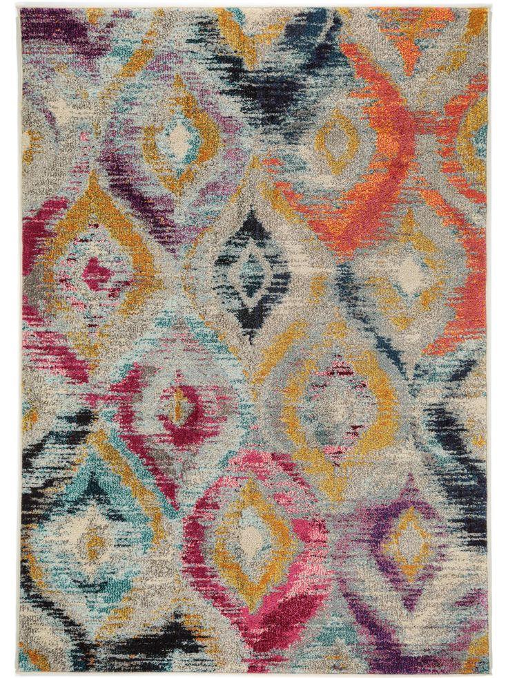 Cool Boho Style f r Zuhause benuta Teppich Casa Multicolor Pink benuta teppich