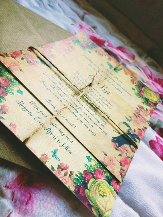 Secret Garden Wedding Invitations Bespoke By StephoneyStationery GBP200