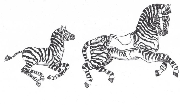 coloring pages of carousel zebra - photo#19