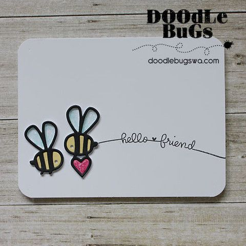 PAPER SMOOCHES: Bees Die Dies are compatible with most die cutting machines including the popular Cuttlebug and Big Shot. This package contains Bees Die: two image dies. Approximate size of the single