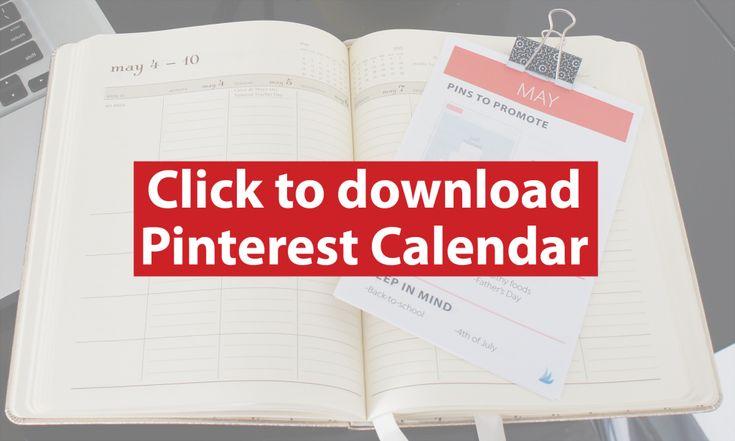 Click to Download Your Printable Pinterest Content Calendar   Tailwind Blog: Pinterest Analytics and Marketing Tips, Pinterest News - Tailwindapp.com
