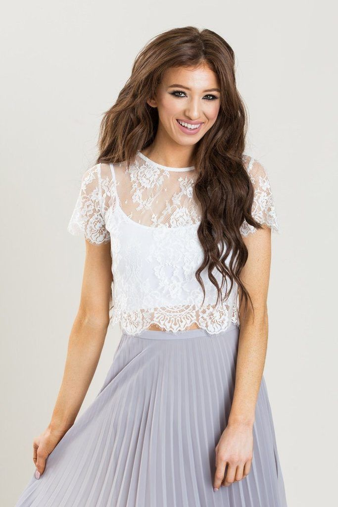 57528f0fd703e Shop the Jolee Ivory Short Sleeve Lace Top at Morning Lavender - boutique  clothing featuring fresh