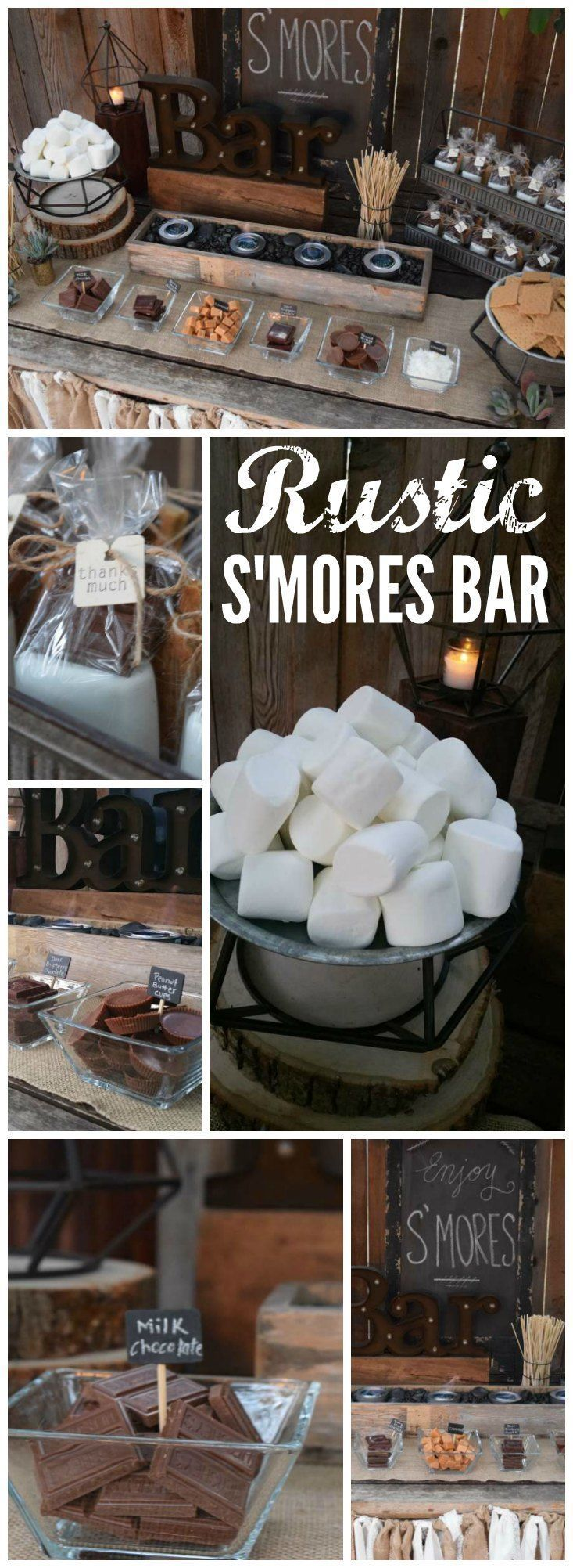 """S'mores Bar / Wedding """"Rustic S'mores Bar"""" 