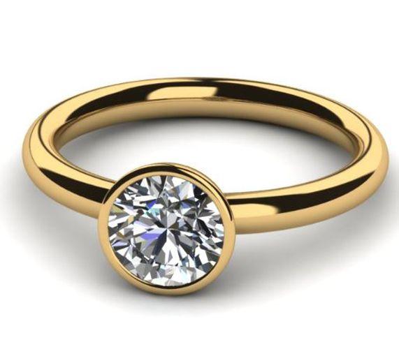 Diamant Verlobungsring 0.25 Karat in 750er Gelbgold vom Juwelierhaus Abt in Dortmund günstig kaufen.  #diamantring #verlobung #gelbgold #diamant #brillant #juwelier #abt #dortmund
