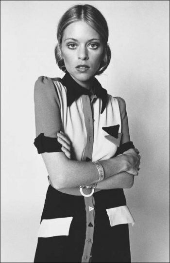 Edina Ronay in Ossie Clark Dress, 1970