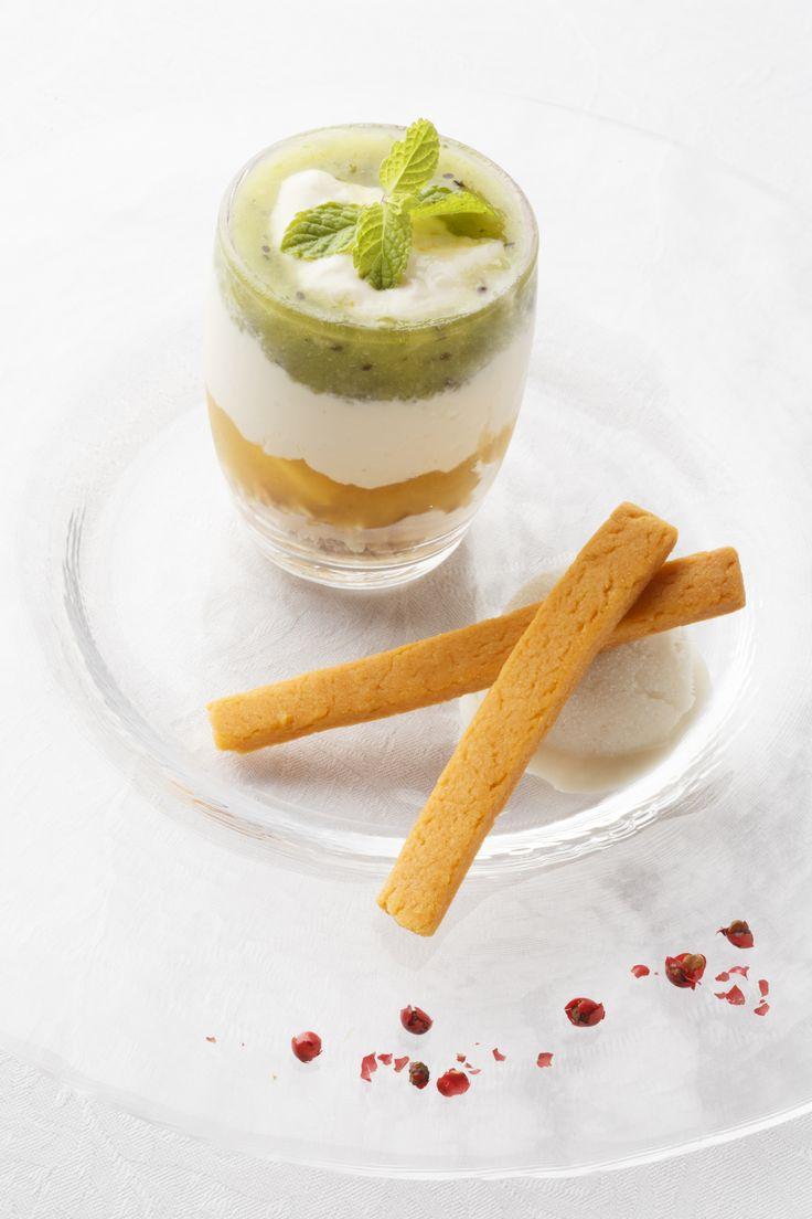 Vegetables and fruits parfait with special vege-cream like yogurt  http://g-veggie.com/gandv/