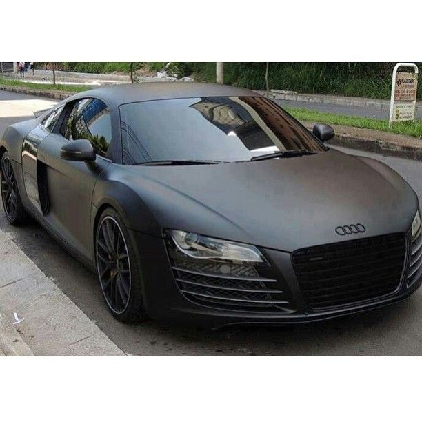 Gorgeous Matte Black Audi R8