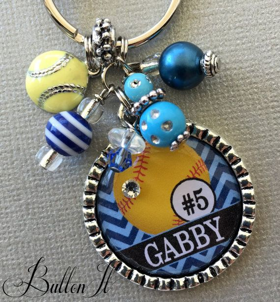 Softball gift senior gift Tennis Personalized jewelry by buttonit