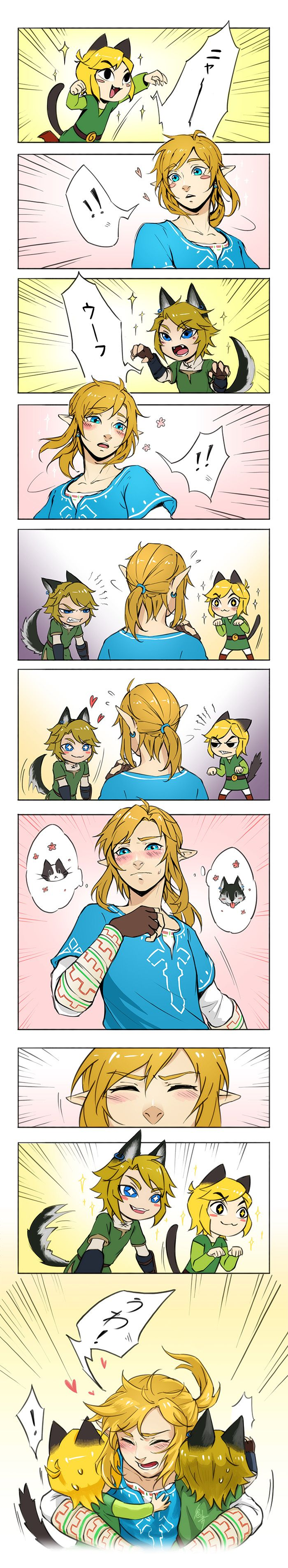 Even liking more wolves than cats... I'd react as him ~u~