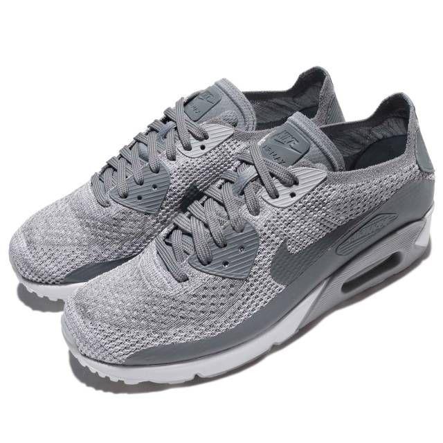 buy online 284a7 9e5ca Nike Air Max 90 Ultra 2.0 Flyknit Grey White Men Running Shoe Sneaker 875943-003  | Kixify Marketplace
