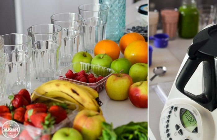 Thermomix Rainbow of Smoothie + Juice Recipes