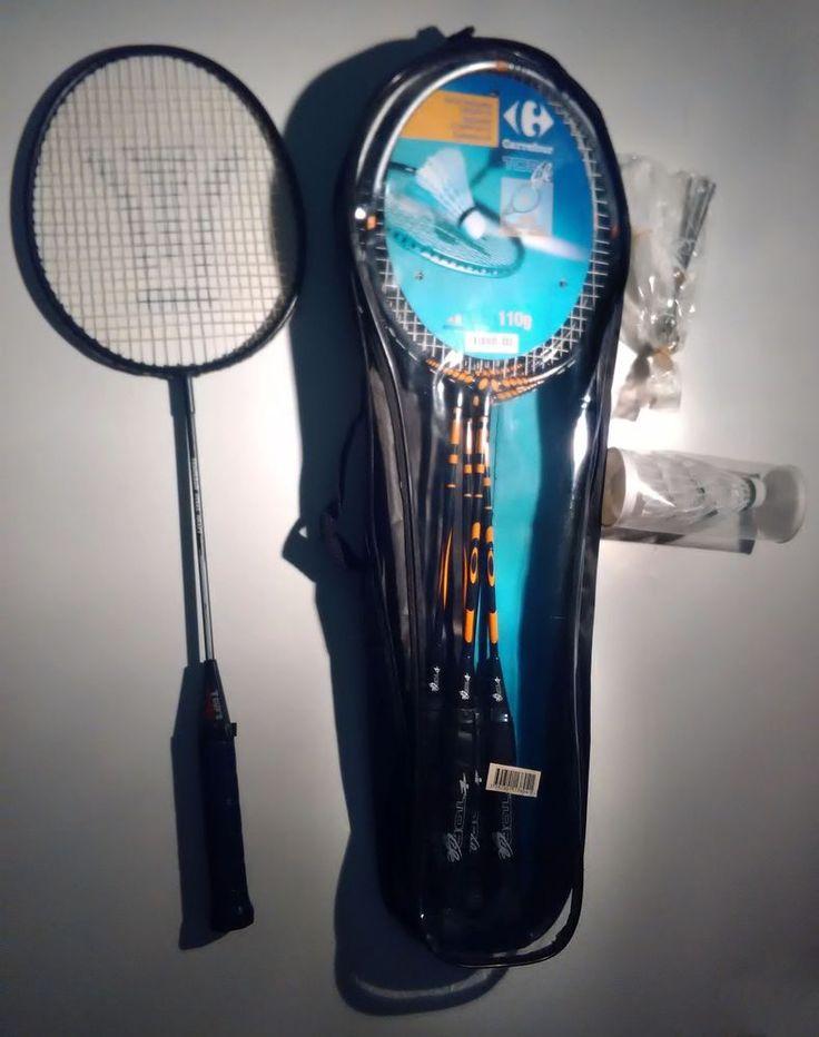 BADMINTON SET (4+1 rackets + 3 birds) / (4+1 raquetas + 3 volantes) https://www.ebay.es/itm/152768205497 #badminton #racket #tennis #sport #sports #raqueta #raquetas #ebay