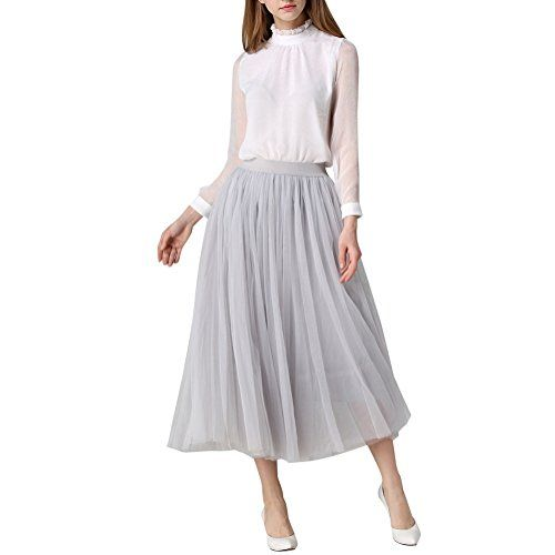 Special Offer: $18.99 amazon.com Silhouette: A LineHemline/Train: Tea LengthFully Lined: YesFabric: TulleSize: Free Size, Elastic WaistColor:Beige. Black.Silver.Dark Red.Waist:60-110cm. Skirt Length:80cmOccasion:Prom,Evening,Cocktail,Homecoming,Quinceanera,Graduation,Wedding Party.Season:...