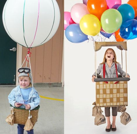 Disfraz casero original globo