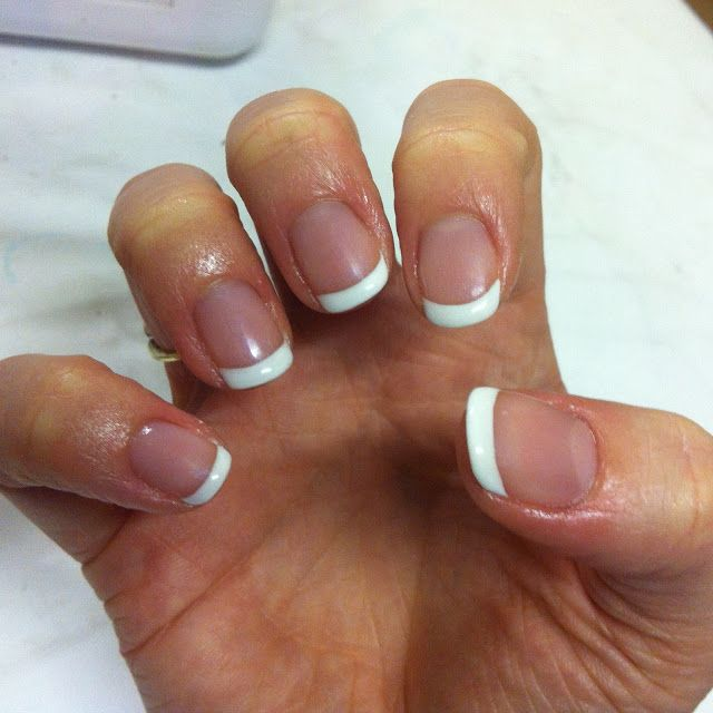 cnd shellac french manicure base colour is beau white. Black Bedroom Furniture Sets. Home Design Ideas