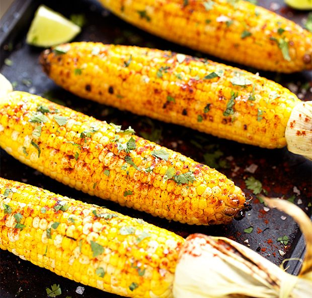 Grilled Cilantro, Lime - as much as I LOVE the buttery corn on the cob, this one looks damn good!