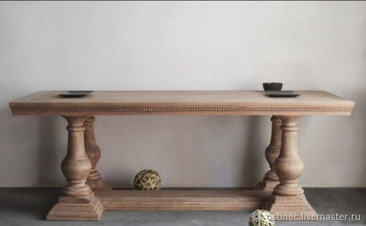 Купить Дизайнерский обеденный стол из массива ясеня или дуба №2 в интернет магазине на Ярмарке Мастеров